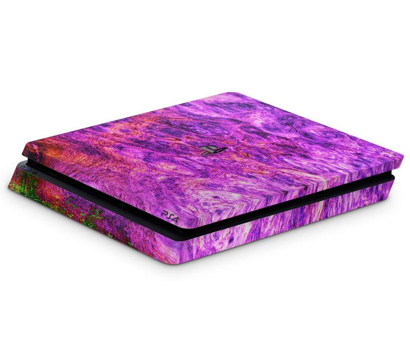 Playstation 4 Slim Skins Stabilized Wood - JW Skinz