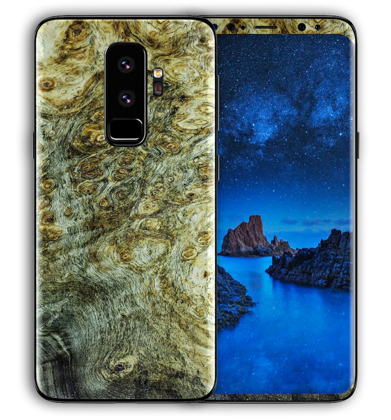 Galaxy S9 Plus Phone Skins Stabilized Wood - JW Skinz