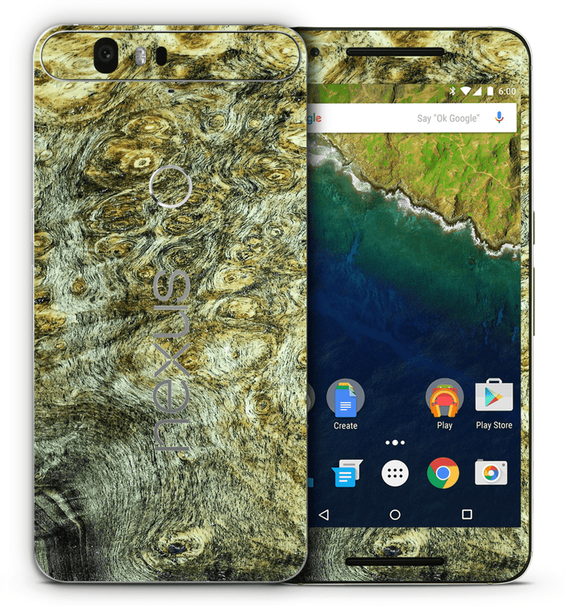 Google Nexus 6P Stabilized Wood Collection - JW Skinz