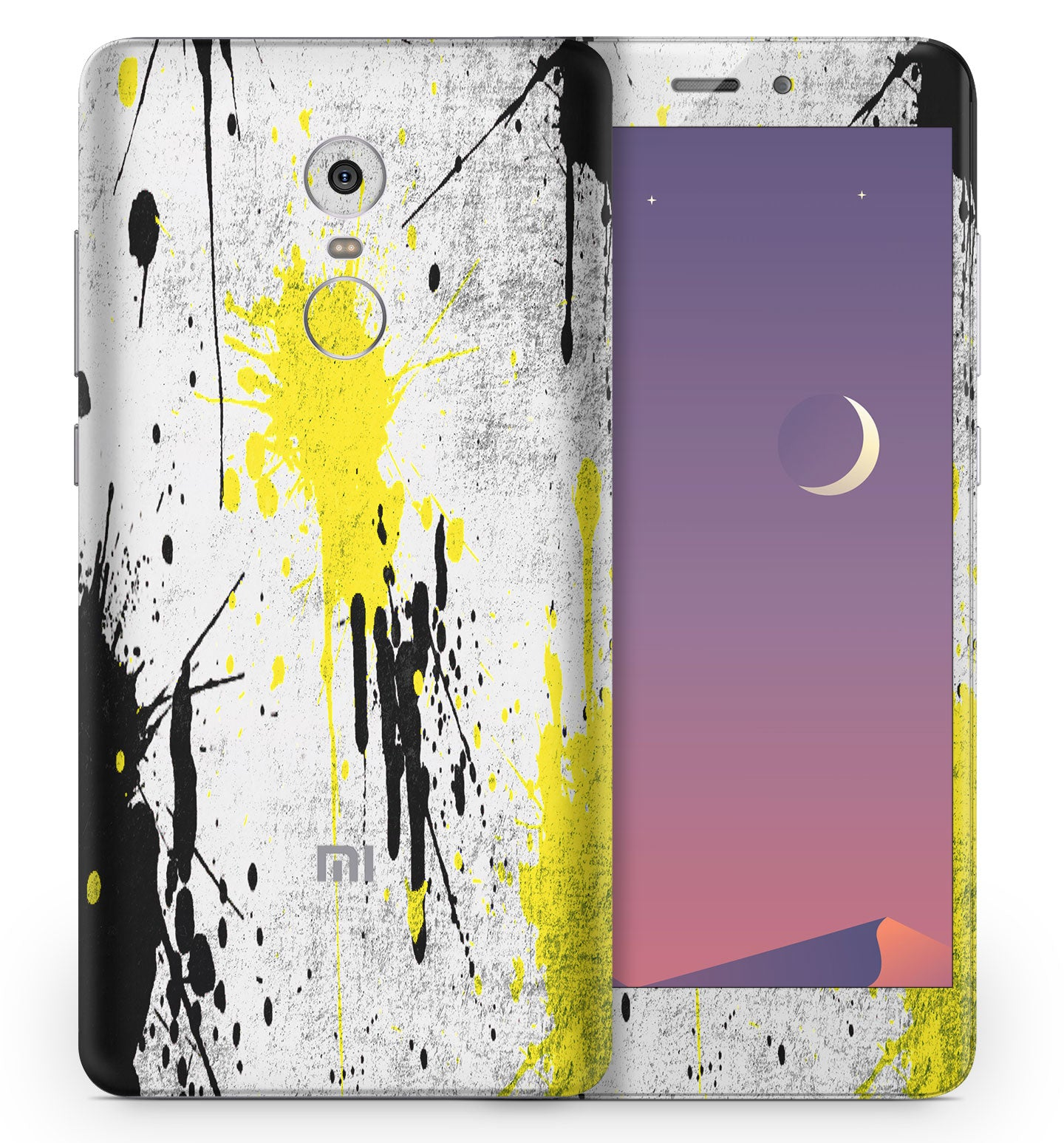 Products Paint Splatter 4 Glitter Bling Wrap Skin For Xiaomi Mi Max Redmi Note Phone Skins