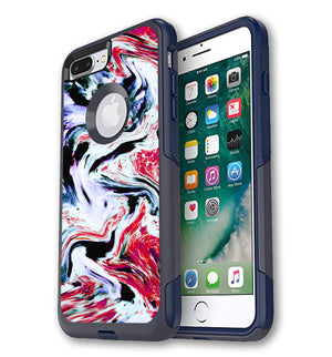 OtterBox Commuter Skin iPhone 7/8 Plus Exotic Granite - JW Skinz