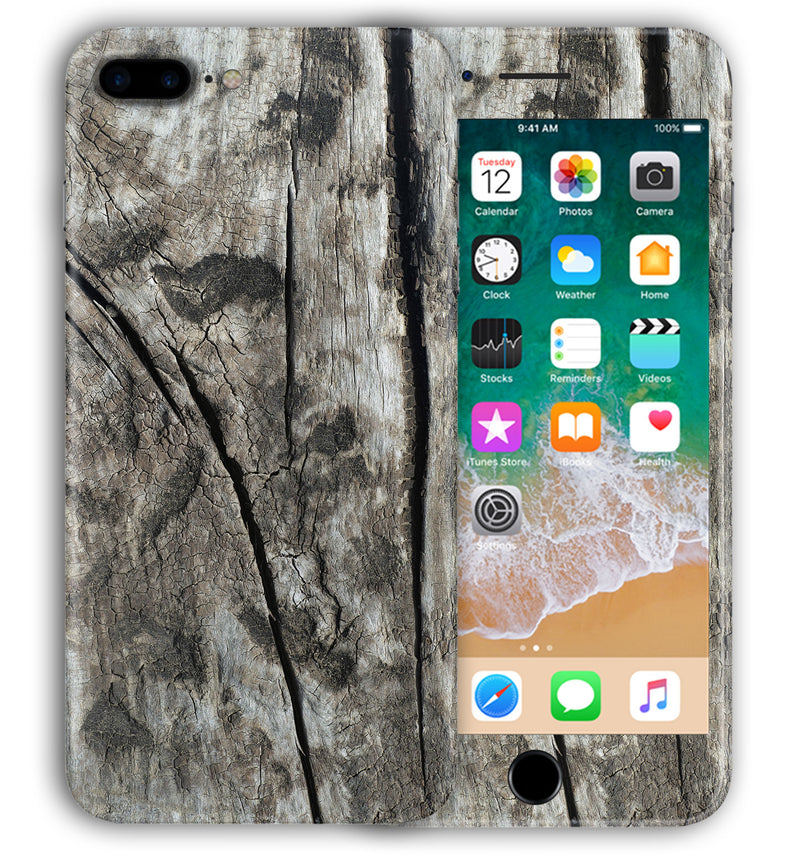 iPhone 8 Plus Phone Skins Wood Grain - JW Skinz