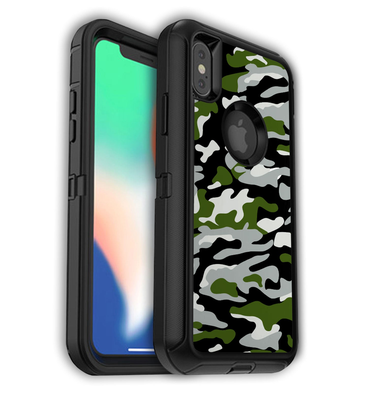 release date: 1ae78 35a95 iPhone XS Max OtterBox Defender Skins with Logo cutout