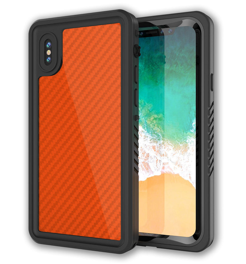 Punkcase Extreme Skin iPhone X Carbon Fiber