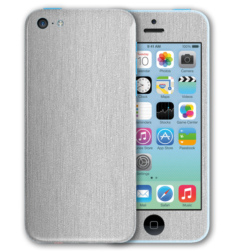 iPhone 5 C Phone Skins Brushed Aluminum - JW Skinz