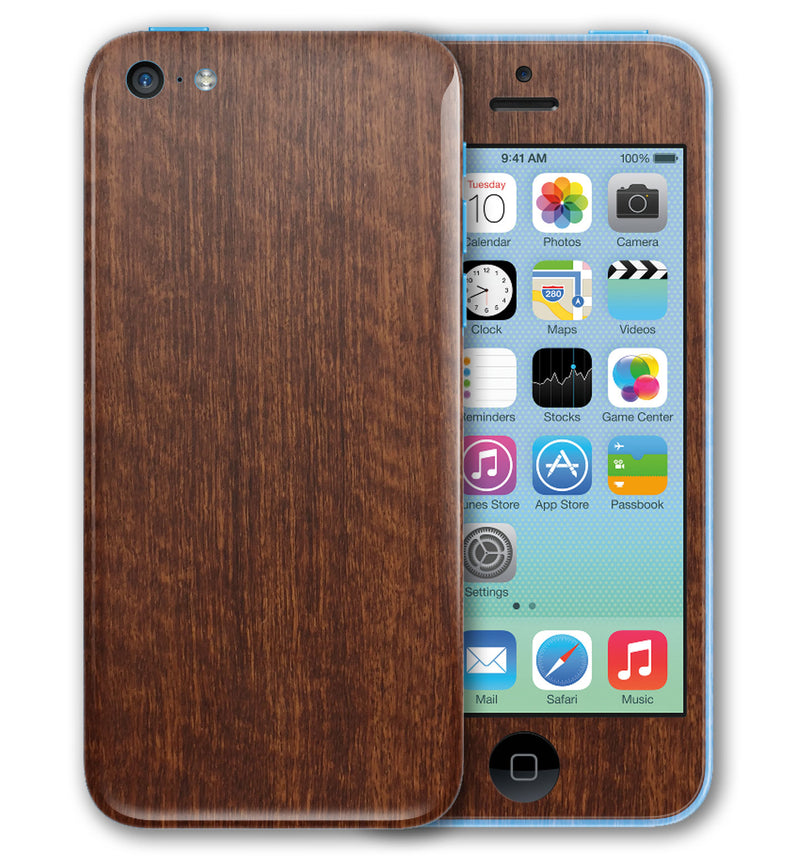 iPhone 5 C Phone Skins Wood Grain - JW Skinz