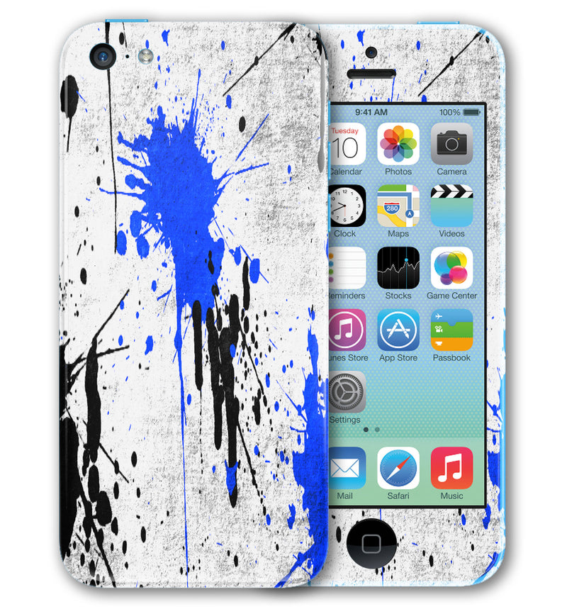 iPhone 5 C Phone Skins Paint Splatter - JW Skinz