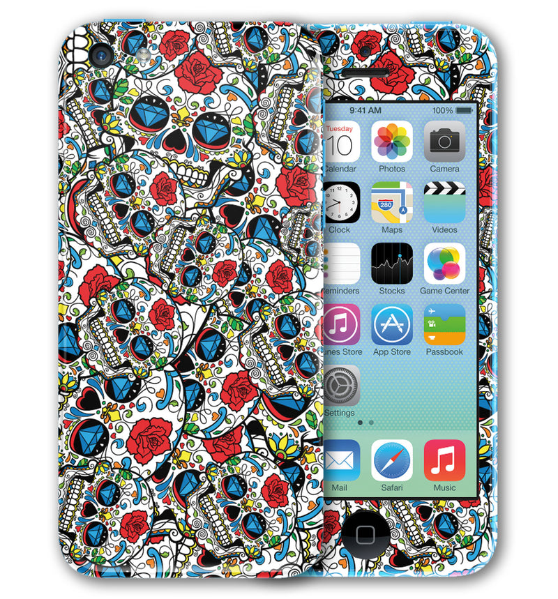 iPhone 5 C Phone Skins Sugar Skulls - JW Skinz