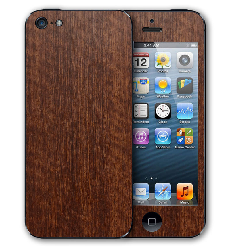 iPhone 5 Phone Skins Wood Grain - JW Skinz