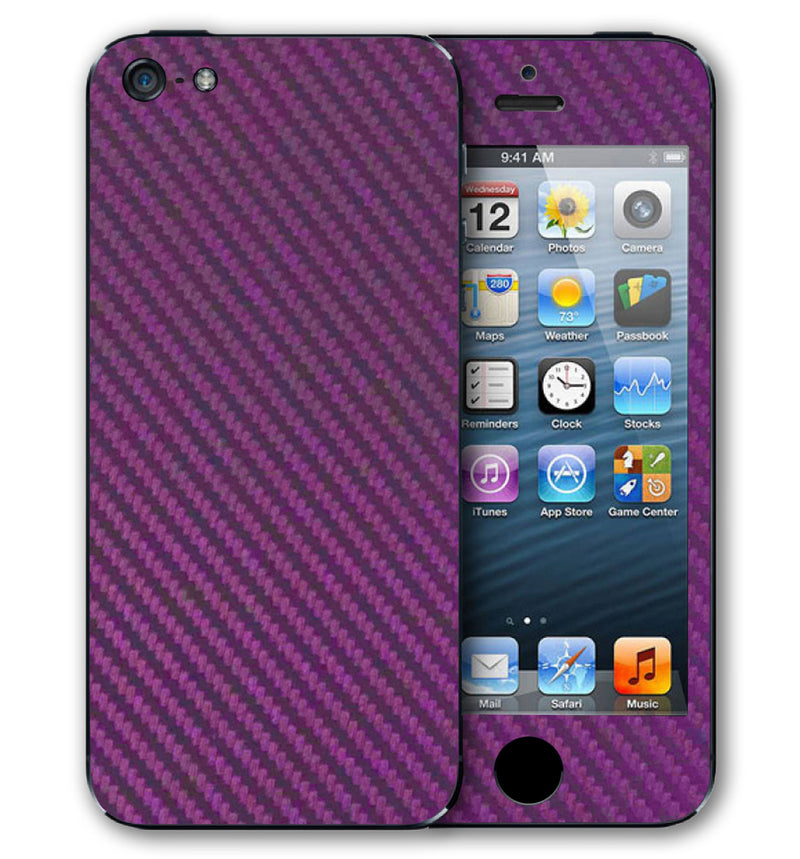 iPhone 5 S / SE Phone Skins Carbon Fiber - JW Skinz