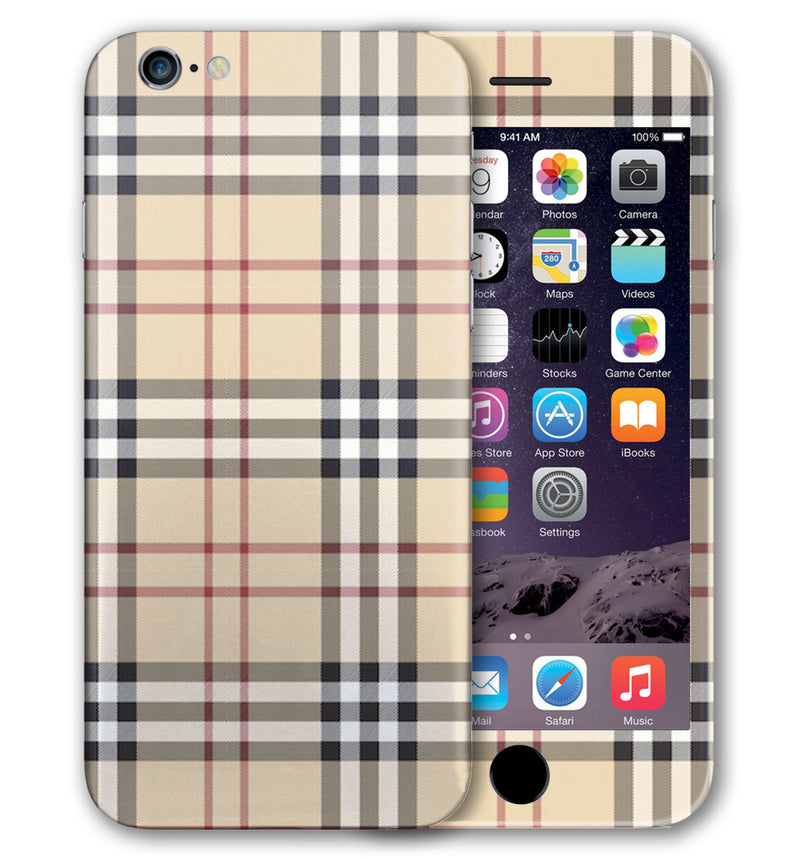 iPhone 6 Plus Phone Skins Plaid - JW Skinz