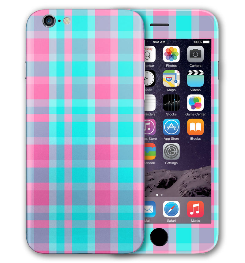 iPhone 6 S Phone Skins Plaid - JW Skinz