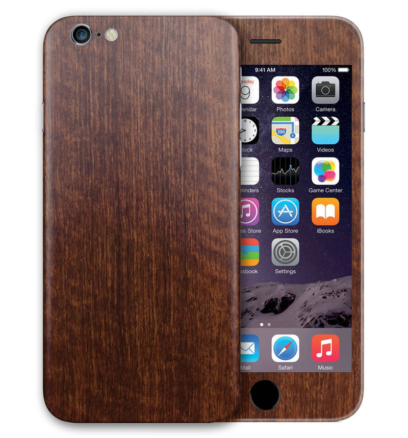 iPhone 6 Phone Skins Wood Grain - JW Skinz
