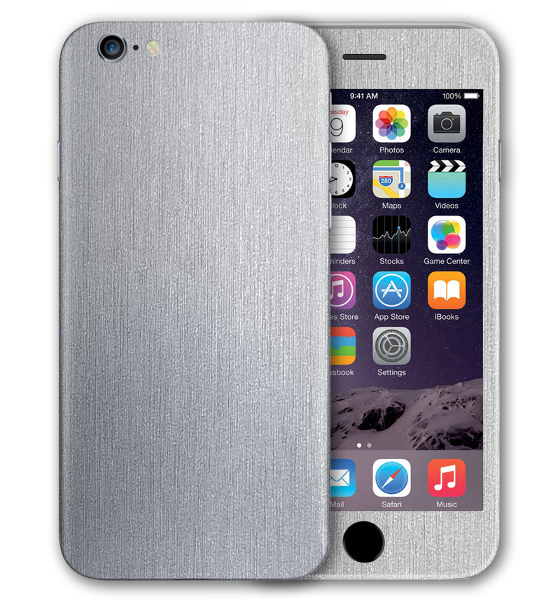 iPhone 6 S Plus Phone Skins Brushed Aluminum - JW Skinz