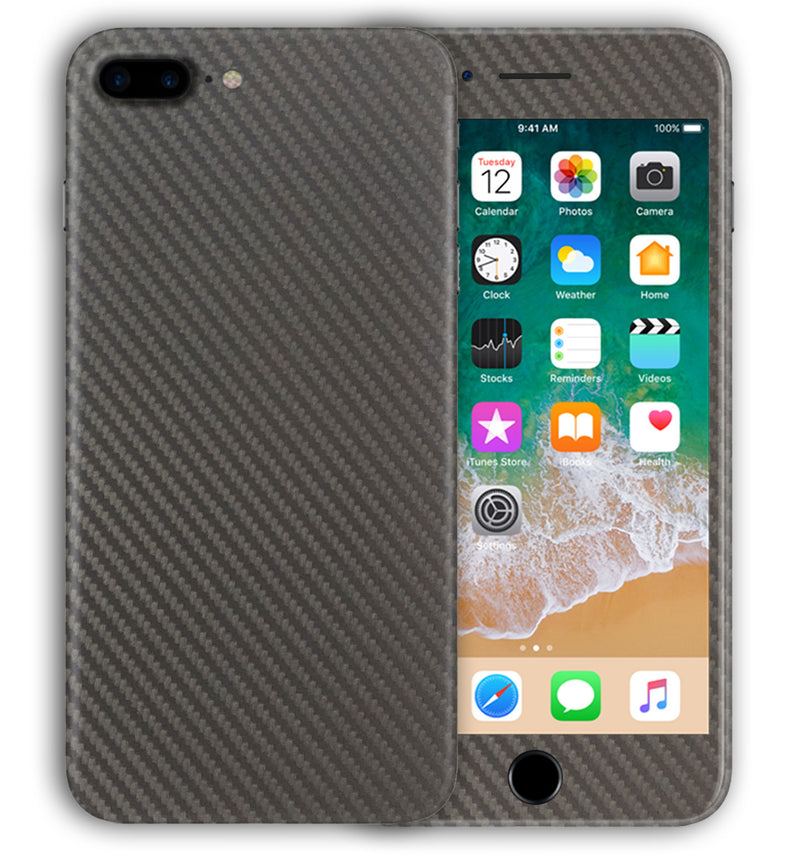 iPhone 8 Plus Phone Skins Carbon Fiber - JW Skinz