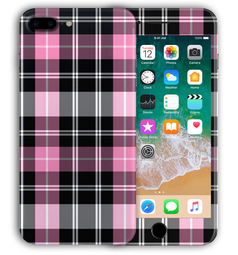 iPhone 7 Plus Phone Skins Plaid - JW Skinz