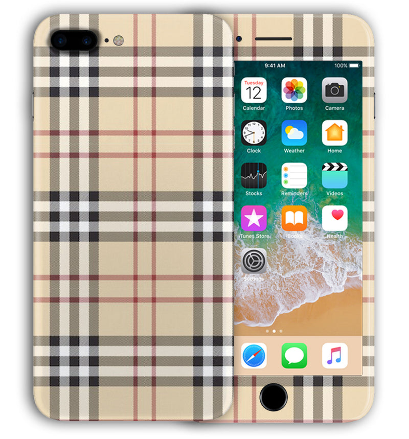 iPhone 8 Plus Phone Skins Plaid
