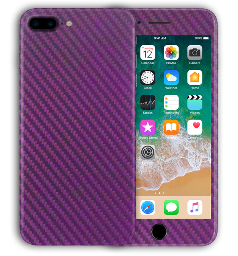 iPhone 7 Plus Phone Skins Carbon Fiber - JW Skinz