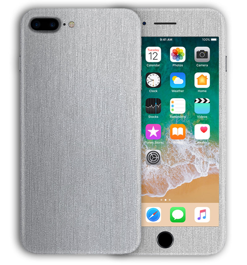 iPhone 7 Plus Phone Skins Brushed Aluminum - JW Skinz