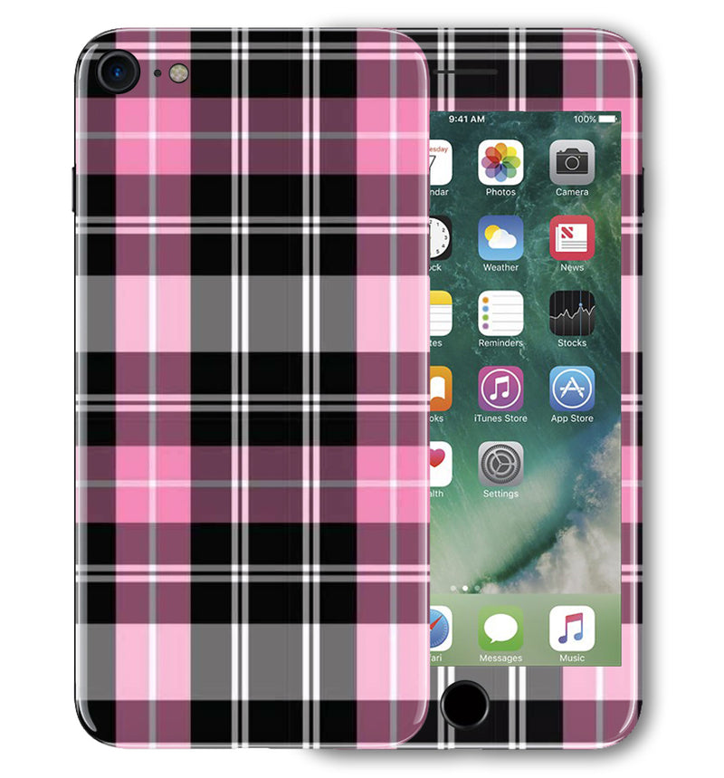 iPhone 7 Phone Skins Plaid - JW Skinz