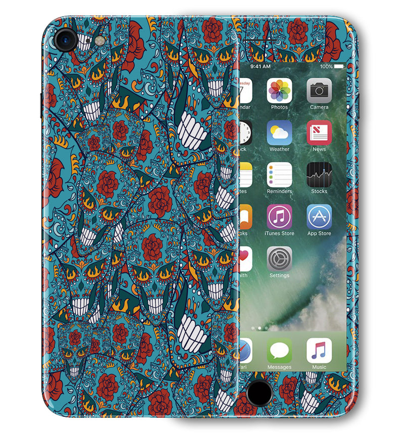 iPhone 7 Phone Skins Sugar Skulls - JW Skinz
