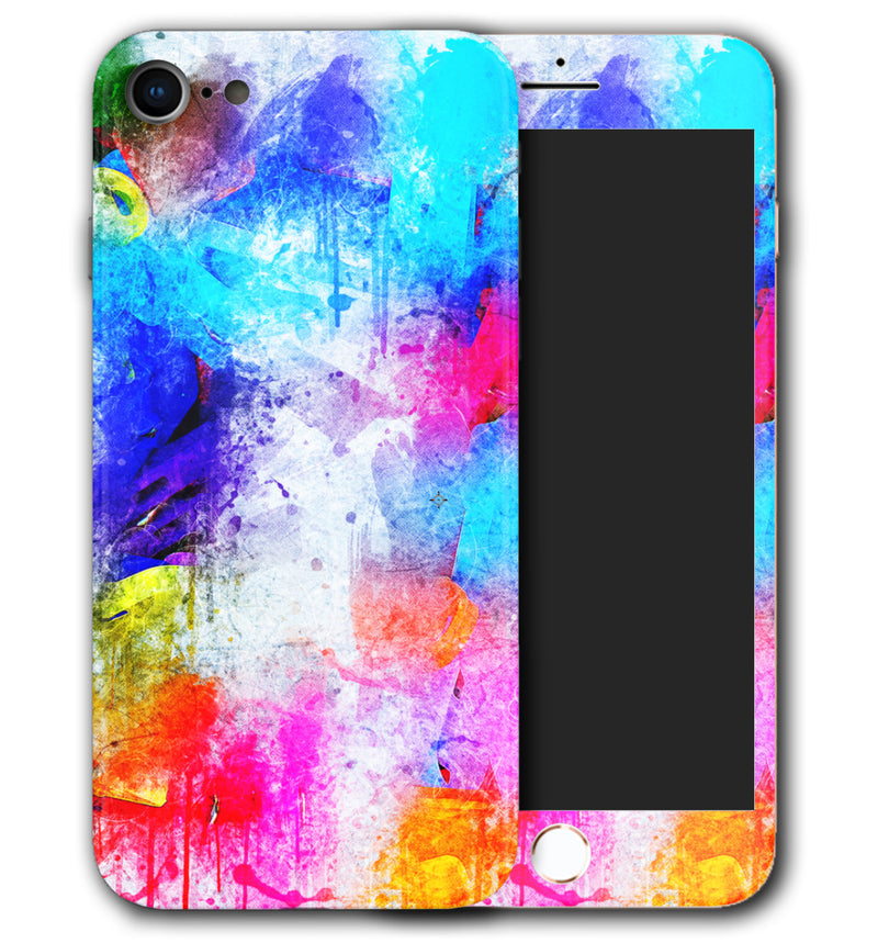 iPhone 8 Phone Skins Paint Splatter