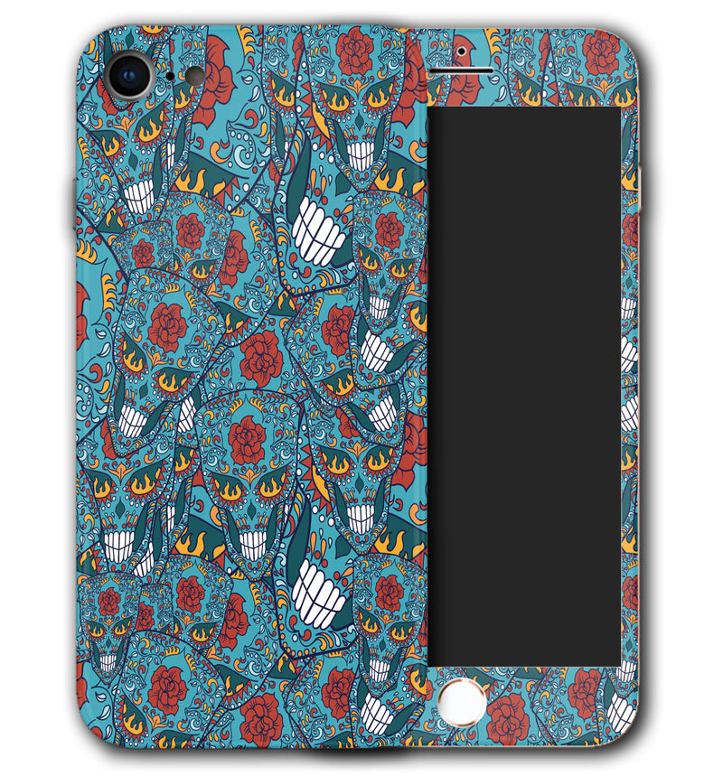 iPhone 8 Phone Skins Sugar Skulls - JW Skinz