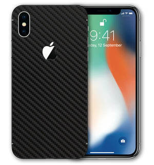 iPhone X Phone Skins Carbon Fiber - JW Skinz