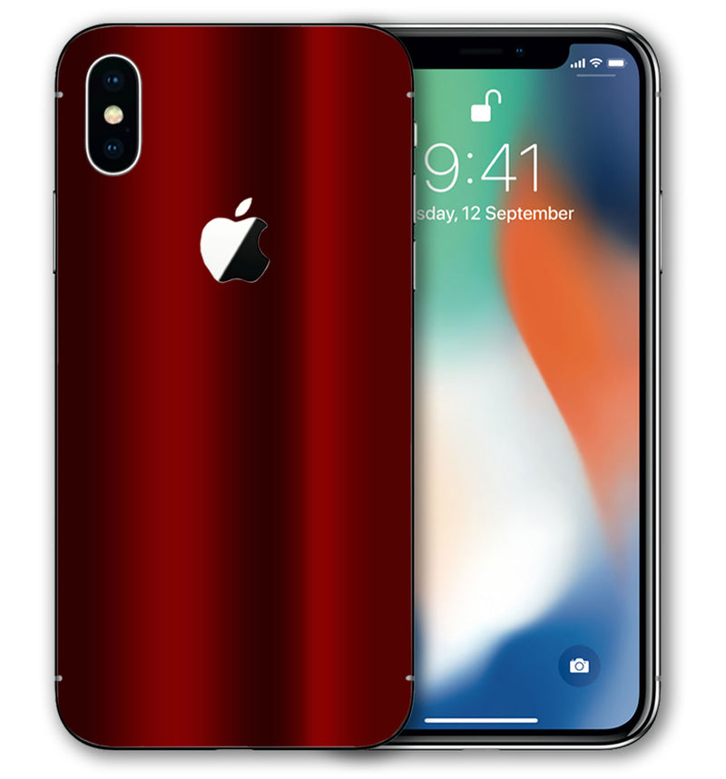 iPhone X Phone Skins Chrome - JW Skinz