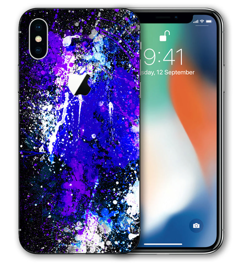 iPhone X Phone Skins Paint Splatter