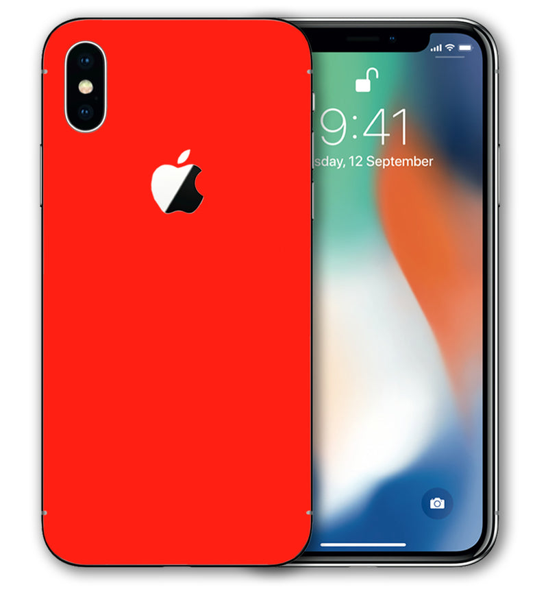 iPhone X Phone Skins Fluorescent - JW Skinz