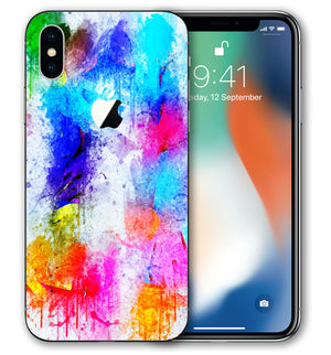 iPhone X Phone Skins Paint Splatter - JW Skinz