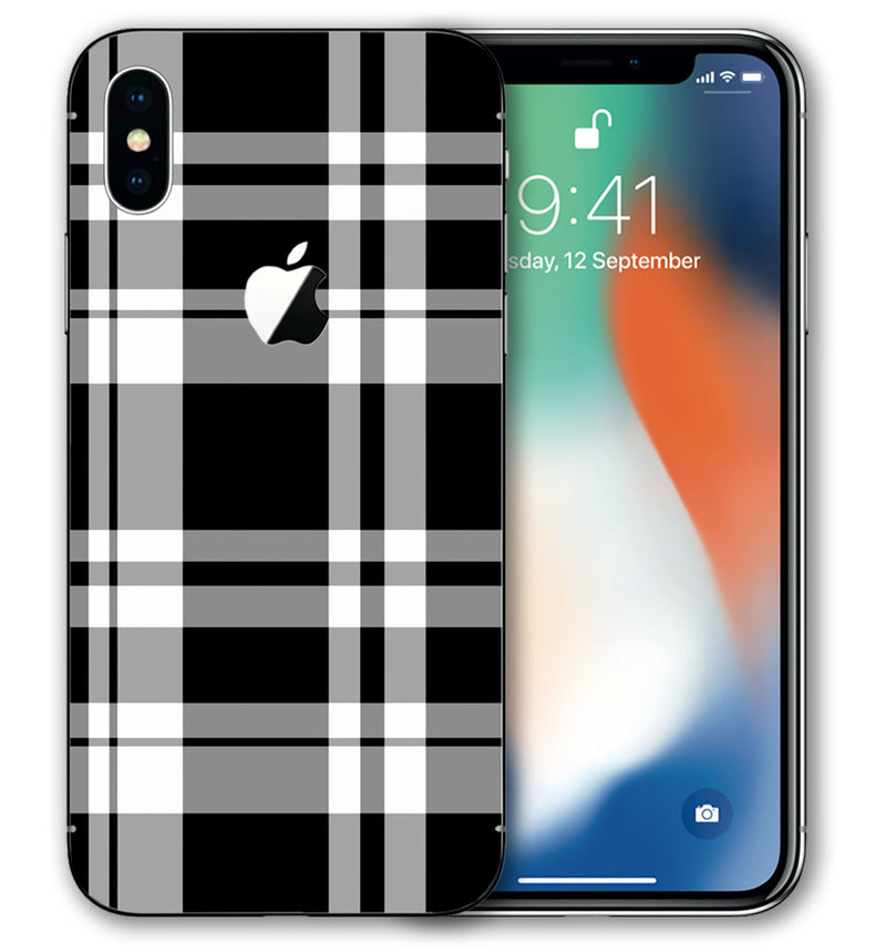 iPhone Xs Max Phone Skins Plaid - JW Skinz