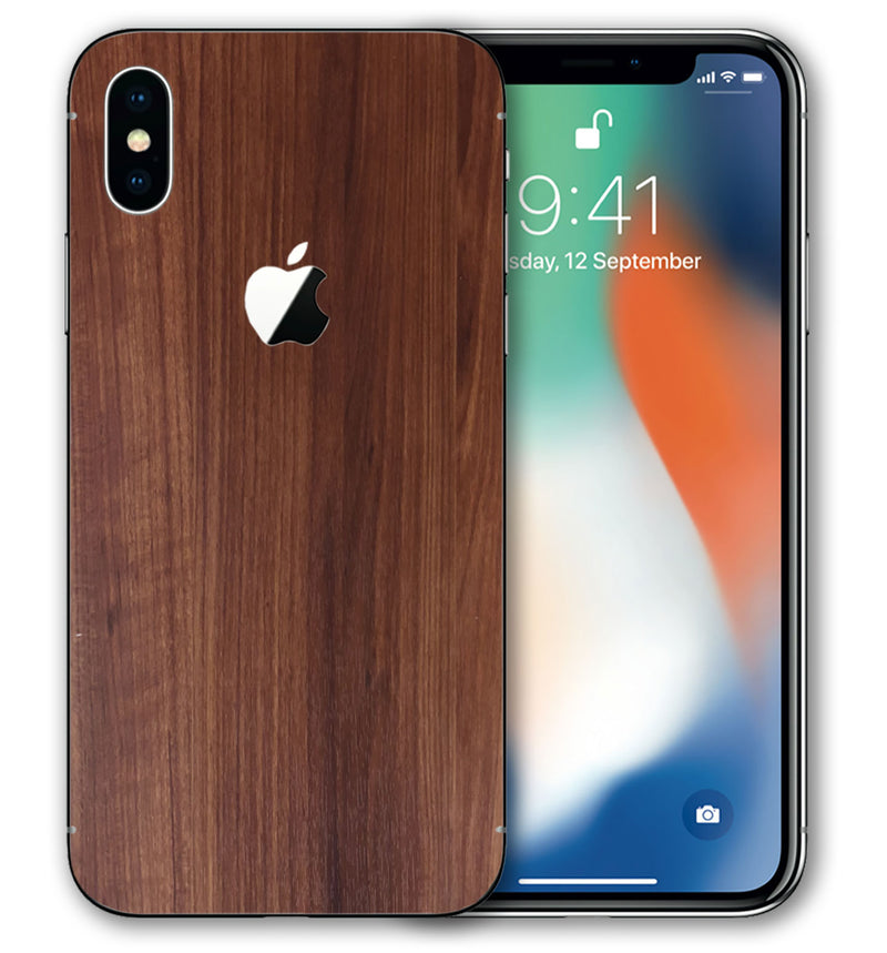 iPhone X Phone Skins Woodgrain