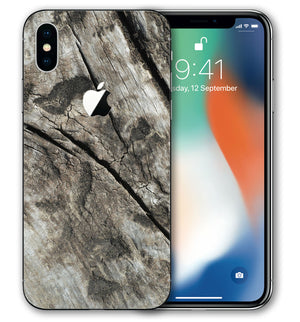 iPhone X Phone Skins Woodgrain - JW Skinz