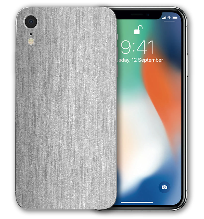 iPhone XR Phone Skins Brushed Aluminum (Pre Order)
