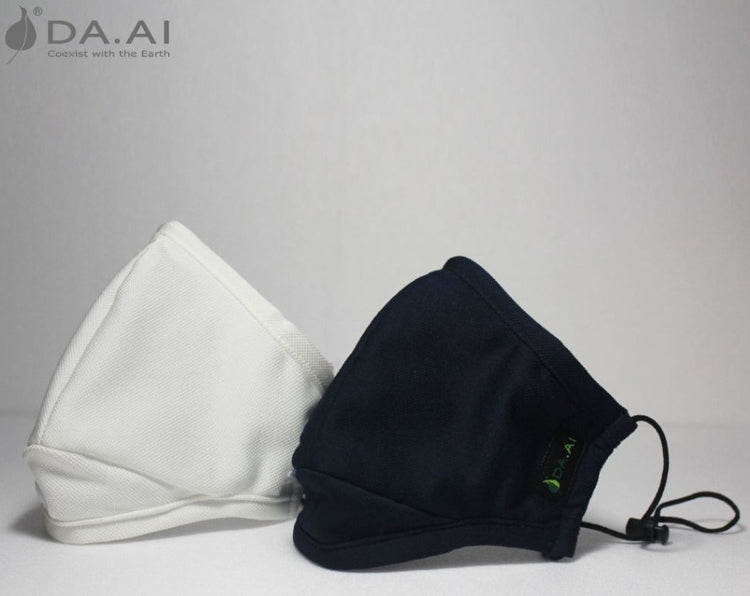 DA.AI Eco Mask Blue/White ( a pack of two masks with four filters)