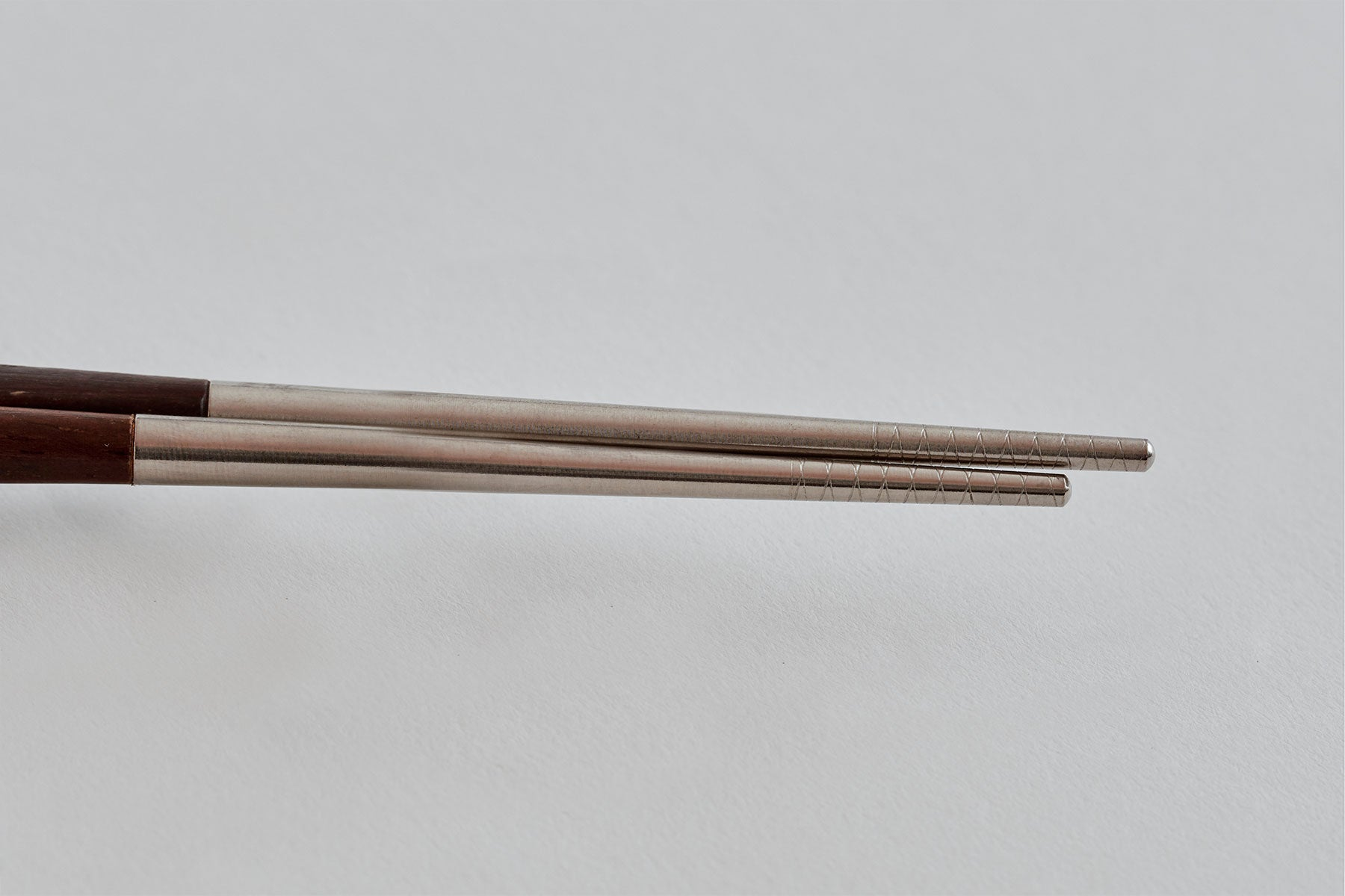 Dual Stainless Steel and Classic Wood Chopsticks