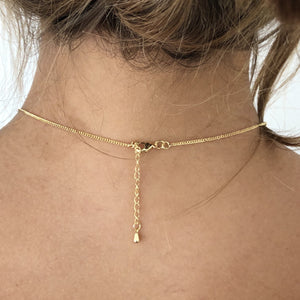 Gold Beaded Cable Chain