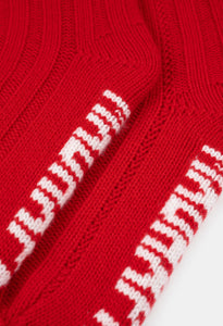 CASHMERE SOCKS - RED