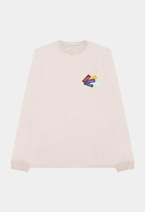 PATCHWORK UNIVERSAL LS TEE - ANTIQUE WHITE