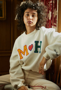 MADHAPPY ALUMNI INSIDE OUT HERITAGE CREWNECK - MARSHMALLOW