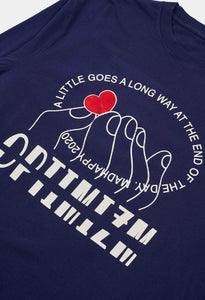 TOUCH OF LOVE UNIVERSAL LS TEE - NAVY