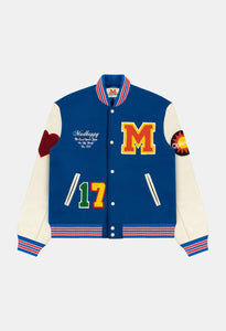 MADHAPPY ALUMNI LETTERMAN JACKET - ROYAL BLUE