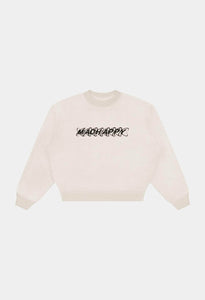 RAINBOW ECLIPSE CROP CREWNECK - ANTIQUE WHITE