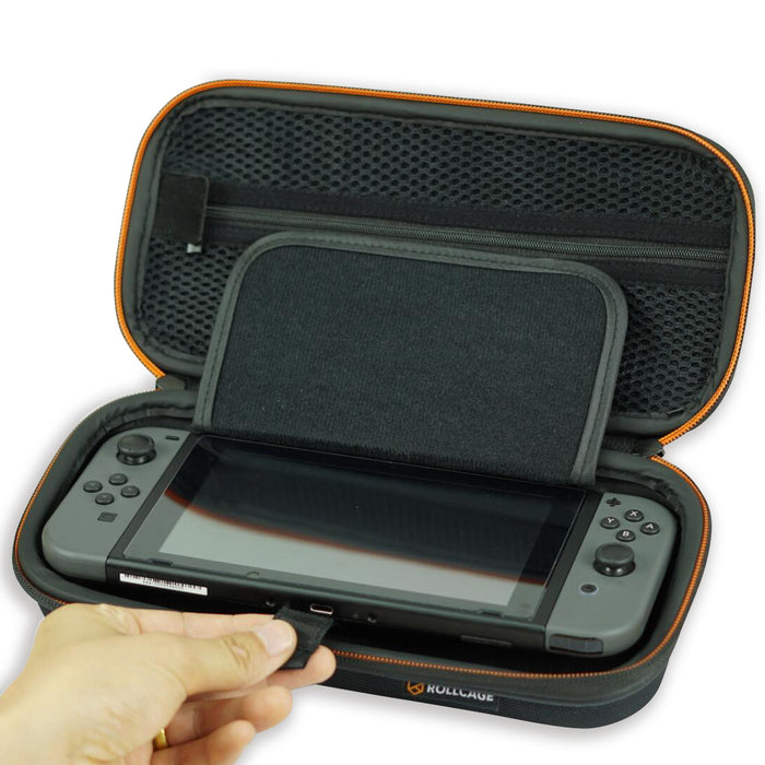 Nintendo Switch protection case with pouch and card storage box lift stripe
