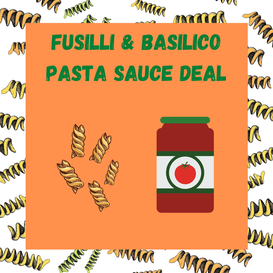 Fusilli and Basilico Pasta Sauce Deal!