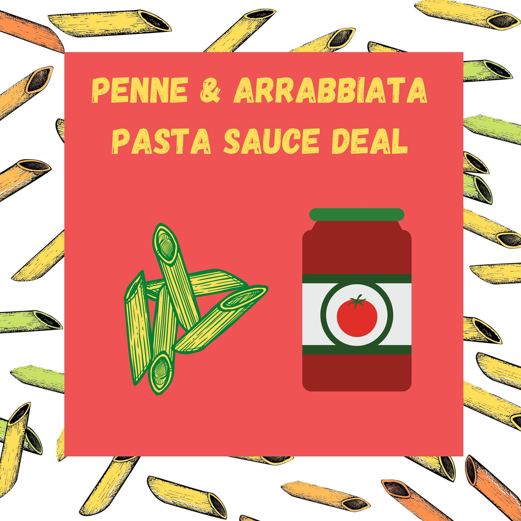 Penne and Arrabbiata Pasta Sauce Deal!