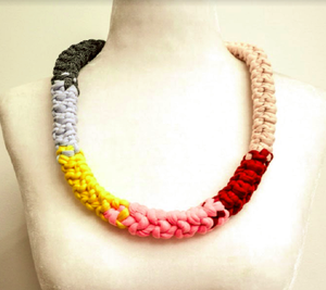 Reversible Multi Coloured Necklace - Georgina