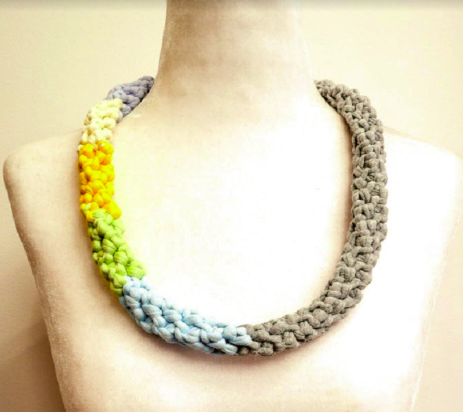 Reversible Multi Coloured Necklace - Giselle